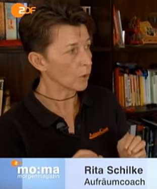 Aufräumexpertin Rita Schilke im ZDF moma