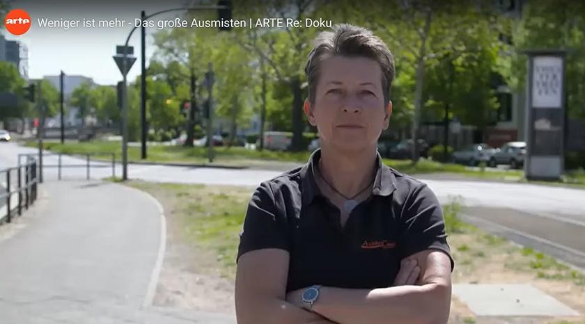Reportage mit Aufräumcoach Rita Schilke bei arte