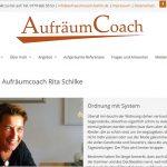 Foto: Relaunch der Homepage von Aufräumcoach Rita Schilke