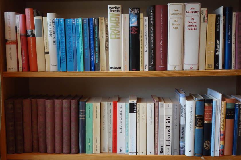 Bücher in einem Regal als Beispiel für Sachen
